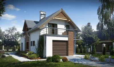 Каркасный дом №154Р2