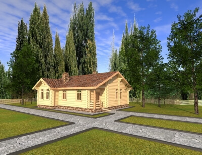 Дом из бревна №118Б