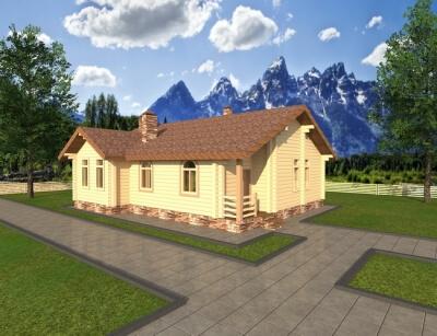 Дом из бруса №118К