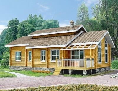Дом из бревна №166Б