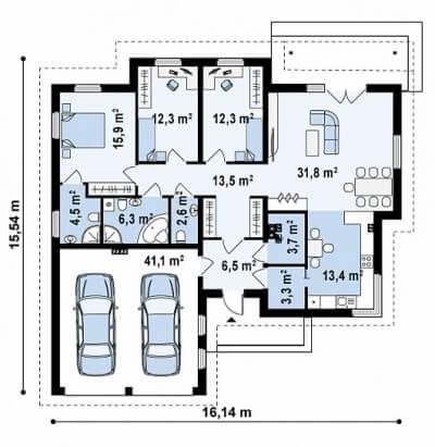 Каркасный дом №169Р4