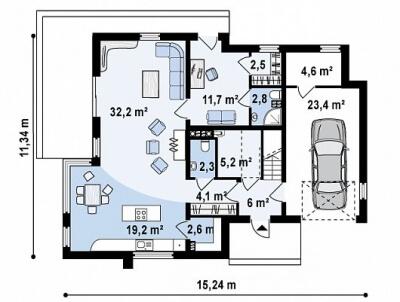 Каркасный дом №225Р