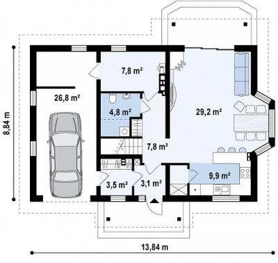 Каркасный дом №178Р