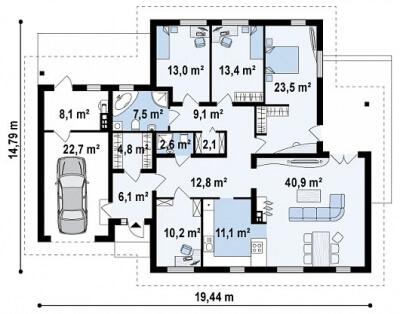 Каркасный дом №188Р