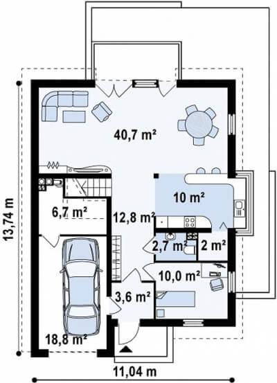 Каркасный дом №204Р