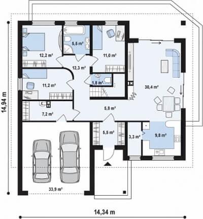 Каркасный дом №256Р