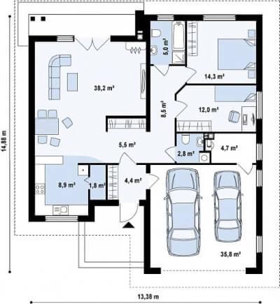 Каркасный дом №142Р