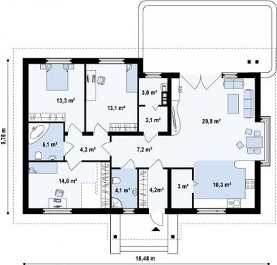 Каркасный дом №112Р7