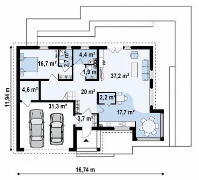 Каркасный дом №282Р