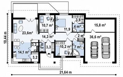Каркасный дом №166Р5