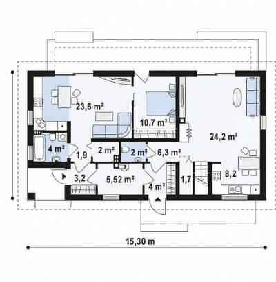 Каркасный дом №198Р3
