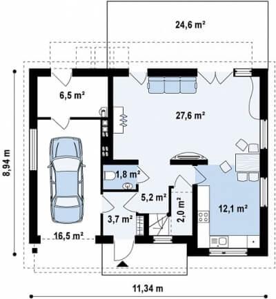 Каркасный дом №151Р