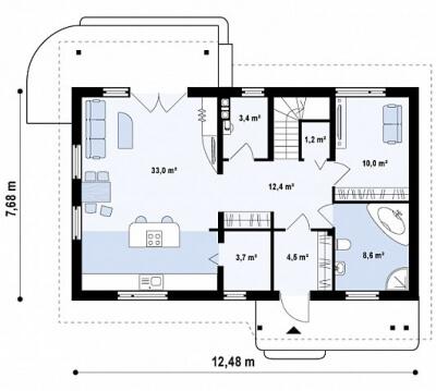 Каркасный дом №154Р3