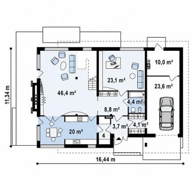 Каркасный дом №244Р