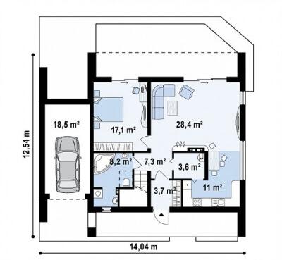 Каркасный дом №181Р3