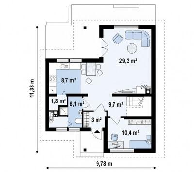 Каркасный дом №143Р2