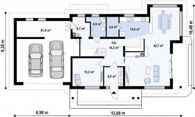 Каркасный дом №297Р