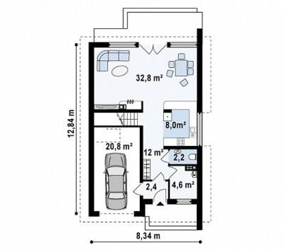 Каркасный дом №165Р2