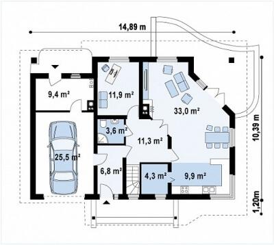 Каркасный дом №217Р