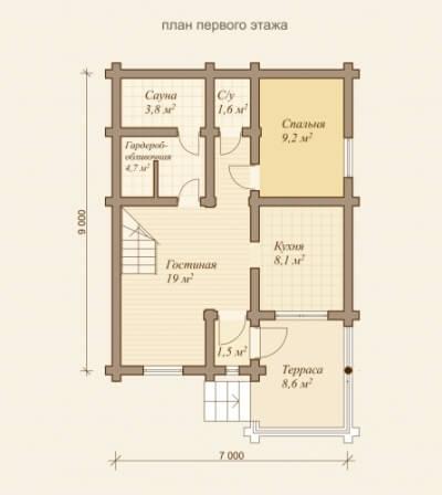 Дом из бревна №95Б
