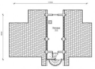 Дом из бревна №65Б2