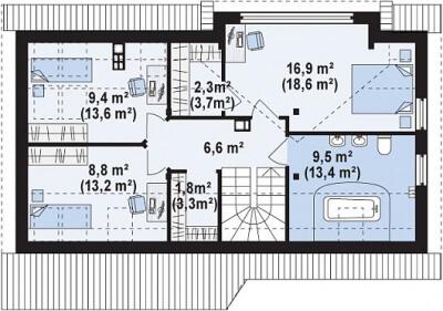 Каркасный дом №148Р