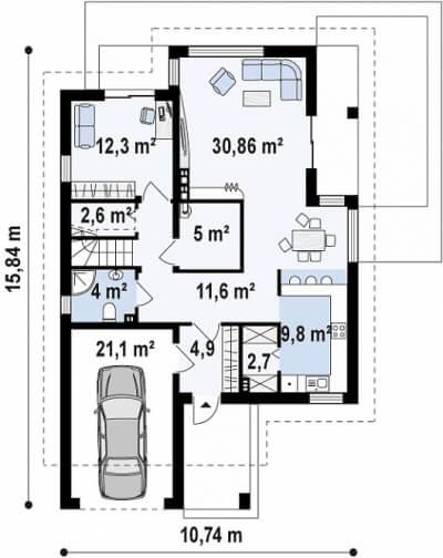 Каркасный дом №213Р2