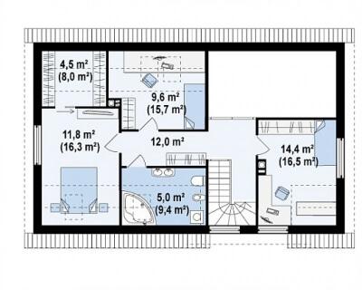 Каркасный дом №173Р3