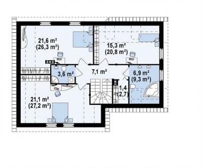 Каркасный дом №192Р3