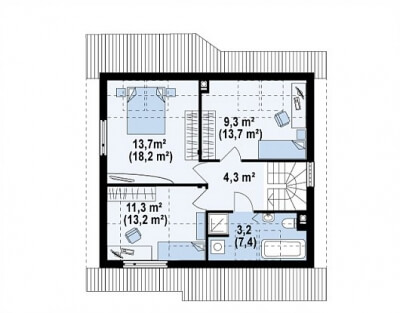 Каркасный дом №112Р6