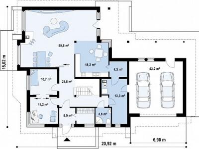 Каркасный дом №347Р2