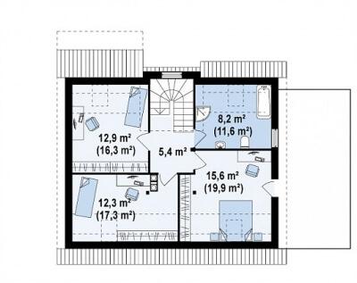 Каркасный дом №168Р