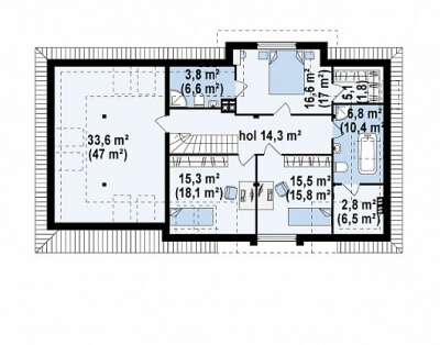 Каркасный дом №276Р