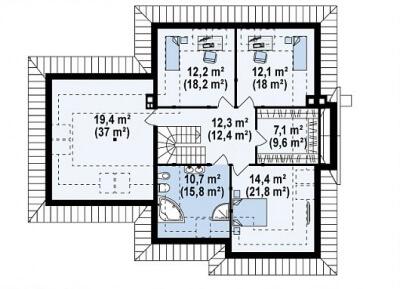 Каркасный дом №256Р2
