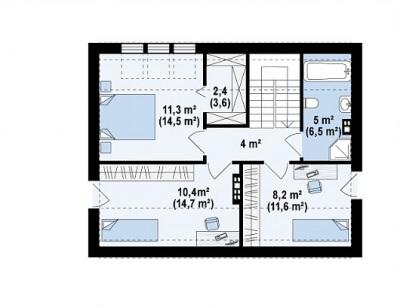 Каркасный дом №110Р3