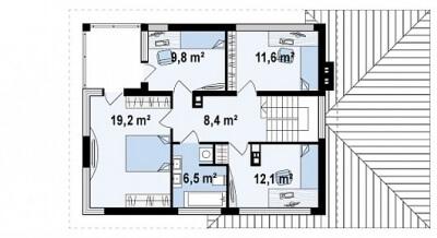 Каркасный дом №163Р