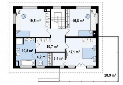 Каркасный дом №197Р2