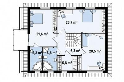 Каркасный дом №193Р2
