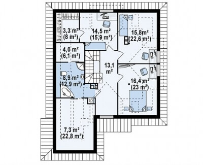 Каркасный дом №242Р