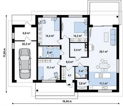 Каркасный дом №138Р2