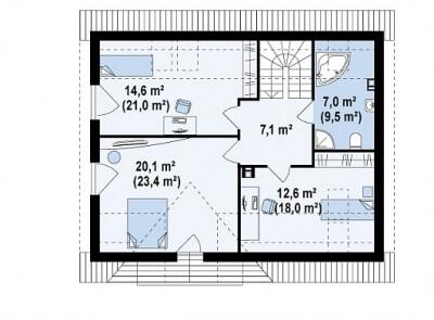 Каркасный дом №157Р4