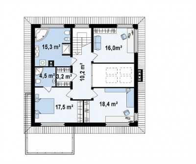 Каркасный дом №202Р2