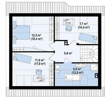 Каркасный дом №141Р2
