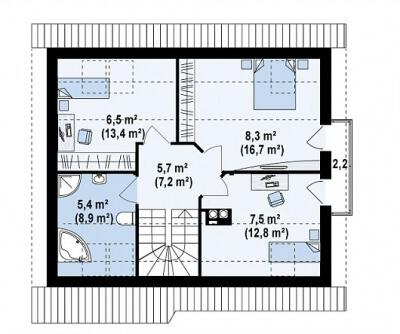 Каркасный дом №118Р