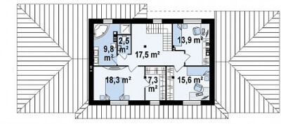 Каркасный дом №258Р2