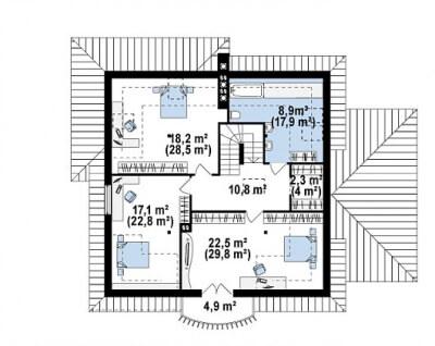 Каркасный дом №253Р