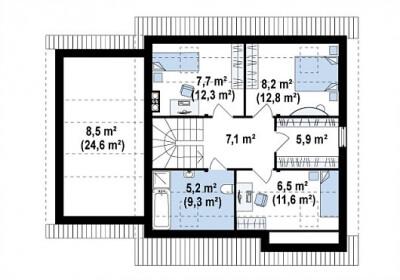 Каркасный дом №150Р3