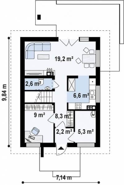Каркасный дом №103Р