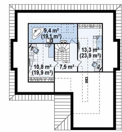 Каркасный дом №252Р