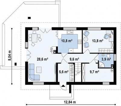 Каркасный дом №161Р